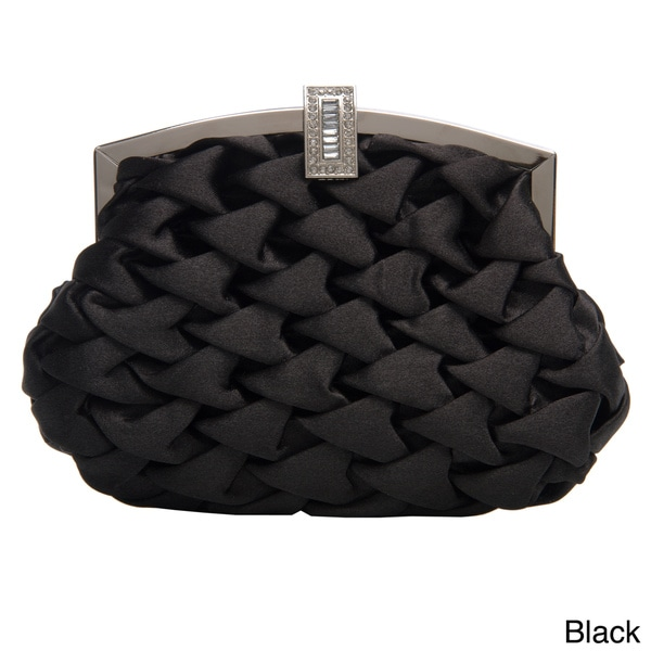 J. Furmani Women's Puffed Satin Evening Clutch