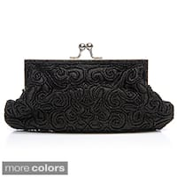 J. Furmani Women's Beaded and Embroidred Evening Bag