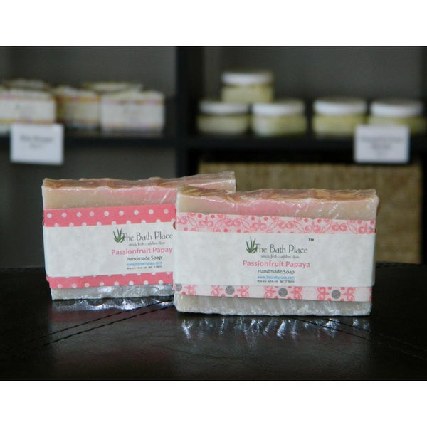 Passionfruit Papaya Handcrafted Natural Soap Duo