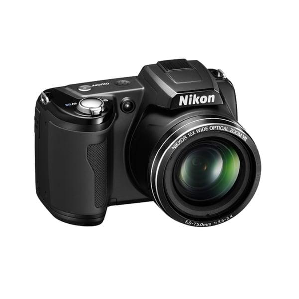 Nikon L105 12.1 MP Black Digital Camera with 15x Optical Zoom