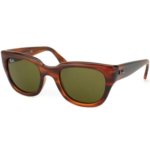 Ray-Ban Women's RB4178 Shiny Havana Cat Eye Sunglasses