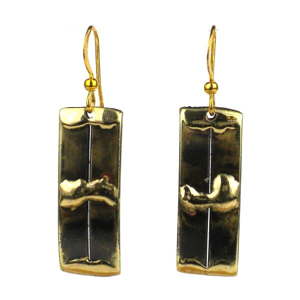 Handmade Brass Struts Earrings (South Africa)