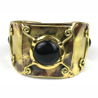 Handmade x Squared Black-Blue Tiger Eye Cuff (South Africa)