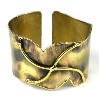 Handmade Brass Pinwheel Cuff (South Africa)