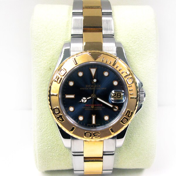 Pre-Owned Rolex Men's Midsize Two-tone Yachtmaster Watch