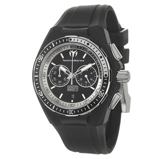 TechnoMarine Men's 'Cruise Original' Stainless Steel Black Diver Watch