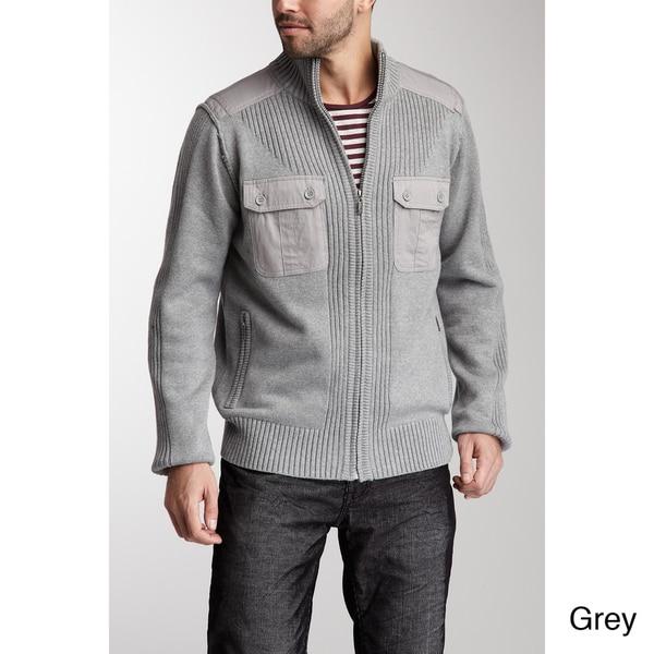 X-Ray Jeans Men's 'Zack' Mixed Media Sweater