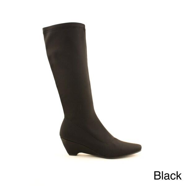 Zoe Women's Solid Wedge Heel Boots