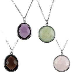 La Preciosa Sterling Silver Gemstone Necklace