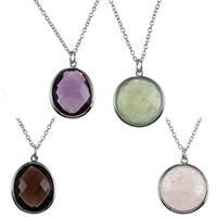 La Preciosa Sterling Silver Gemstone Necklace