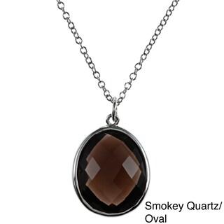 La Preciosa Sterling Silver Gemstone Necklace (Option: Quartz - Champagne - N/A)