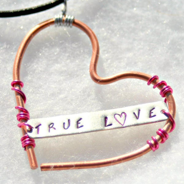 My Three Metals Copper 'True Love Heart' Necklace