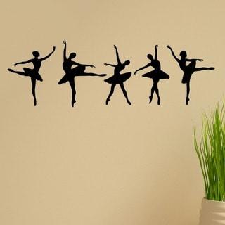 'Ballerina Dancers' Vinyl Wall Graphic Decal (Set of 5)