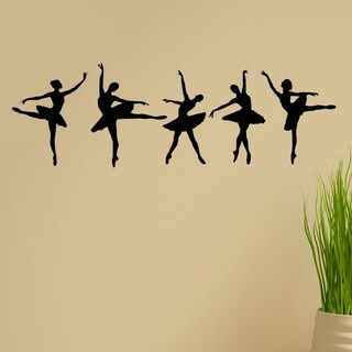 'Ballerina Dancers' Vinyl Wall Graphic Decal (Set of 5)