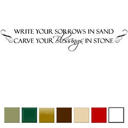 'Write Your Sorrows in Sand.....' Vinyl Wall Art Decal