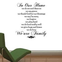 In Our Home, We Do........' Vinyl Wall Quote Art Decal