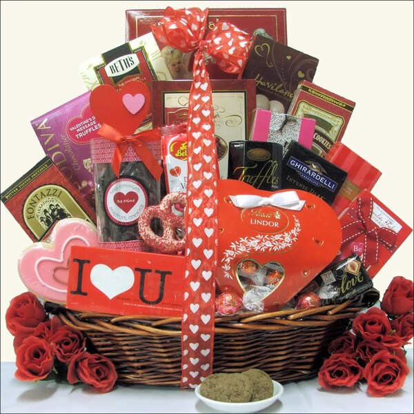 Great Arrivals Extra Large Valentine's Day Chocolate and Sweets Gift Basket