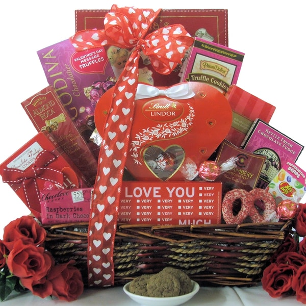 Great Arrivals Valentine's Day Chocolate and Sweets Gift Basket