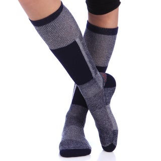 Smart Socks Navy Merino Wool Cushioned Ski Socks (Pack of 3)