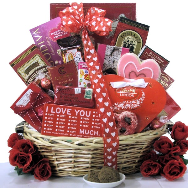 Great Arrivals Sweet Devotion Valentine's Day Chocolate and Sweets Gift Basket