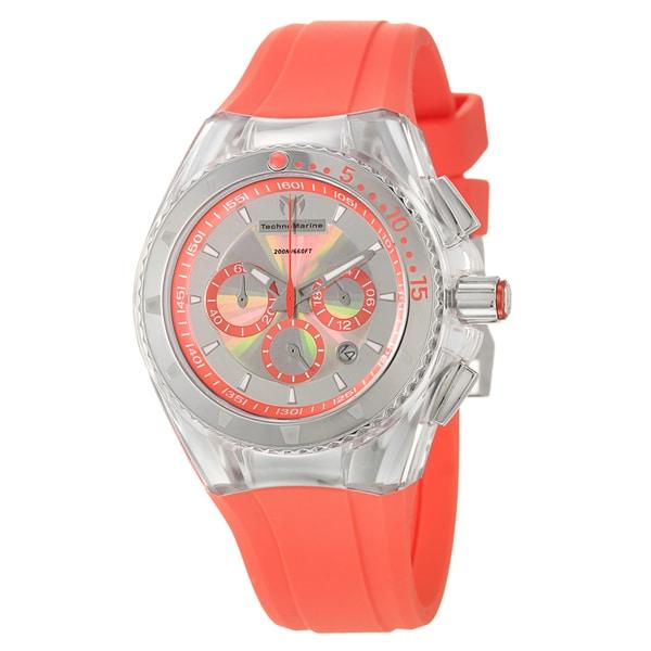 Technomarine women 39 s 39 cruise original 39 orange rubber dive watch free shipping today - Orange dive watch ...