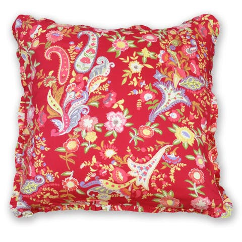 Cottage Home Frolic Flower Cotton 26 Inch Euro Sham - 26 x 26
