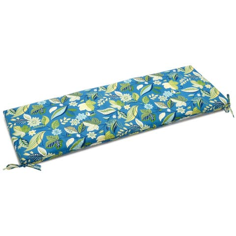 "Blazing Needles All-weather 60-inch Indoor/Outdoor Bench Cushion - 60"" x 19"""
