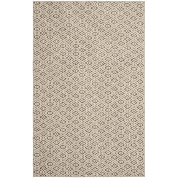 Safavieh Diamonds Taupe Sisal Wool Rug - 8' x 11'