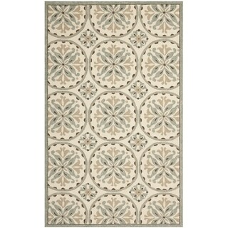 Country Safavieh Four Seasons Stain-Resistant Hand-Hooked Ivory Rug (8' x 10')