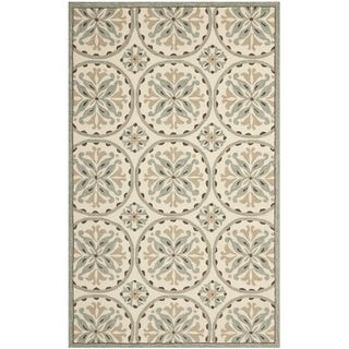 Safavieh Hand-Hooked Four Seasons Green/ Brown Polyester Rug (8' x 10')