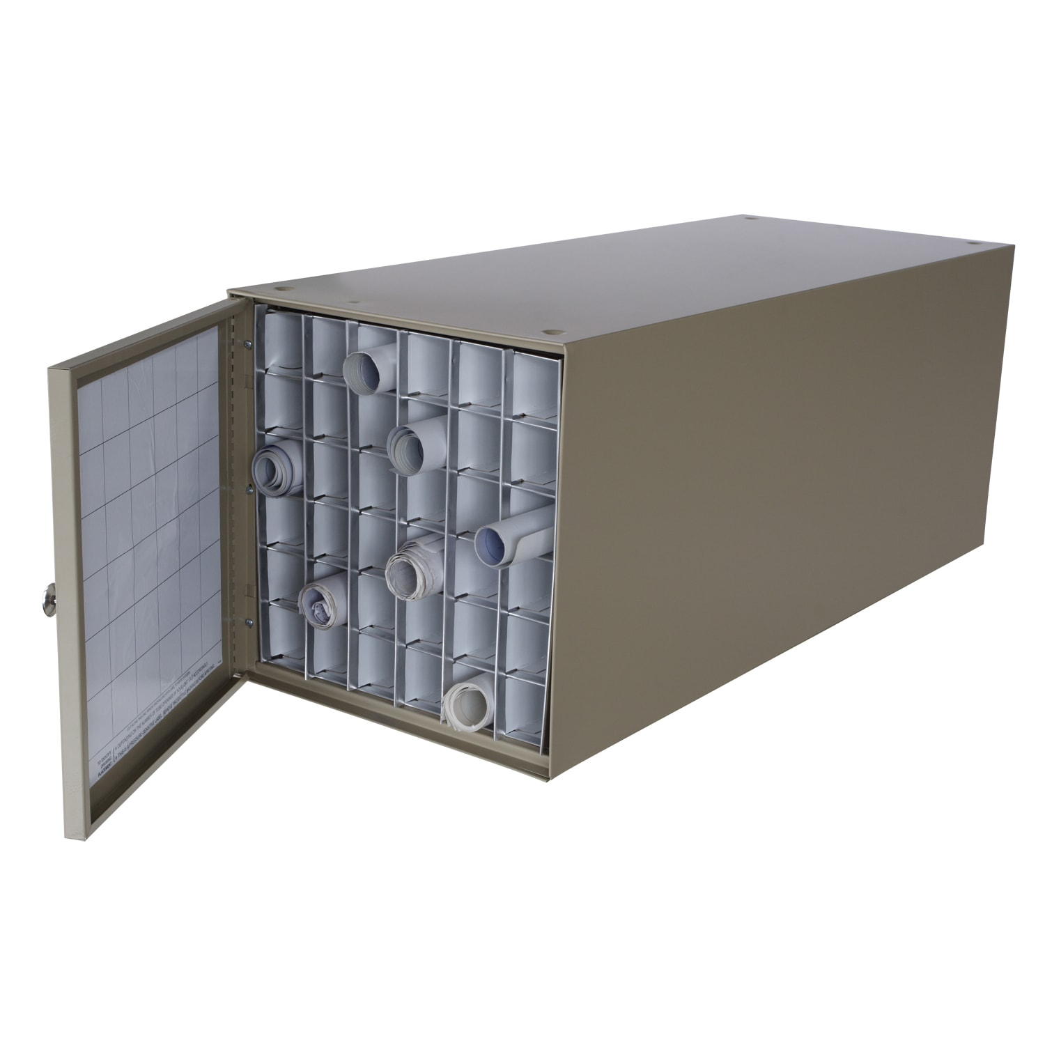 Blast Adir Stackable Steel 36-compartment Rolled Document...
