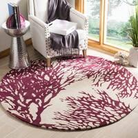 Safavieh Handmade Bella Beige Wool and Viscose Rug - 5' Round
