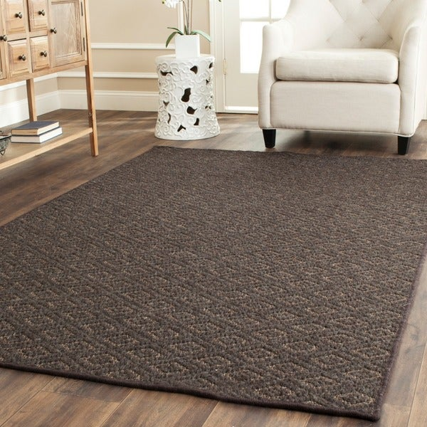 Safavieh Diamonds Brown Sisal Wool Rug (5' x 8')