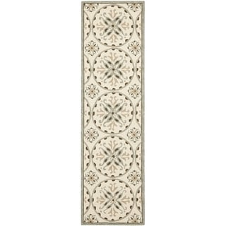 """Safavieh Four Seasons Stain-Resistant Hand-Hooked Indoor/Outdoor Ivory Rug (2'3"""" x 8')"""