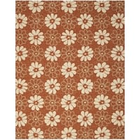 Safavieh Hand-Hooked Four Seasons Rust Polyester Rug - 8' x 10'