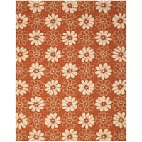 Safavieh Hand-Hooked Four Seasons Rust Polyester Rug - 8' x 10'