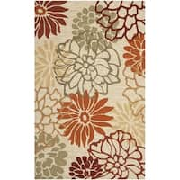 Safavieh Hand-Hooked Four Seasons Beige/ Multicolored Rug - 3'6' x 5'6'