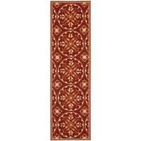 "Safavieh Hand-Hooked Four Seasons Red/ Orange Polyester Rug - 2'3"" x 8'"