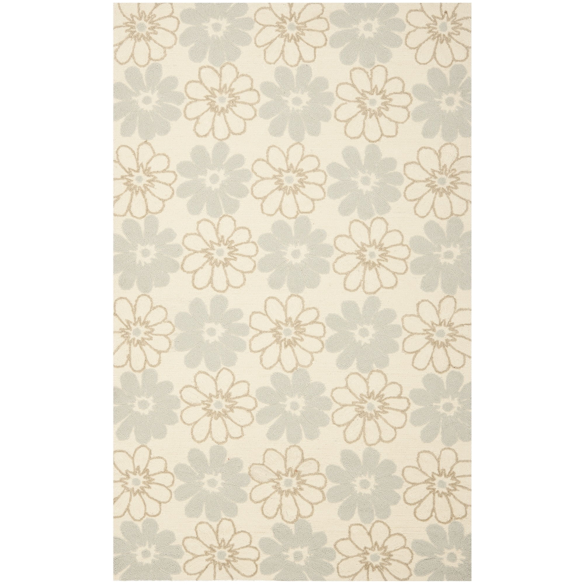 Safavieh Hand-Hooked Four Seasons Ivory Floral Polyester ...
