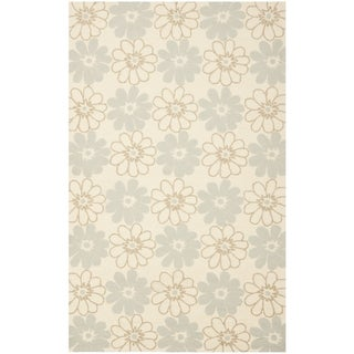 Safavieh Hand-Hooked Four Seasons Ivory Floral Polyester Rug (3'6 x 5'6)