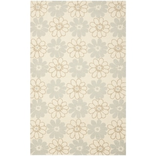 Safavieh Hand-Hooked Four Seasons Ivory Floral Polyester Rug (5' x 8')