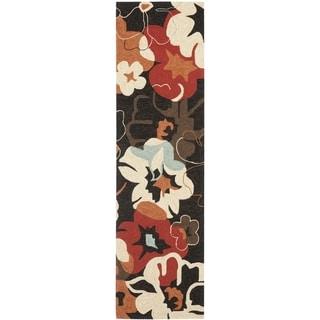 Safavieh Four Seasons Stain Resistant Hand-hooked Black Rug (2'3 x 8')