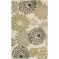 Safavieh Hand-Hooked Four Seasons Beige/ Green Rug - 5' x 8'
