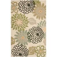 Safavieh Hand-Hooked Four Seasons Beige/ Green Rug - 5' x 8'