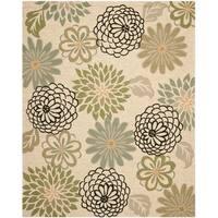 Safavieh Hand-Hooked Four Seasons Beige/ Green Rug - 8' x 10'