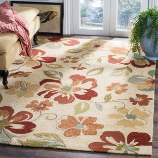 Safavieh Hand-Hooked Four Seasons Beige Floral Polyester Rug (8' x 10')