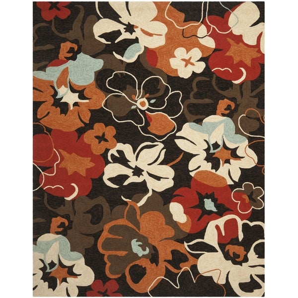 Safavieh Hand-Hooked Four Seasons Black Polyester Rug - 8' x 10'