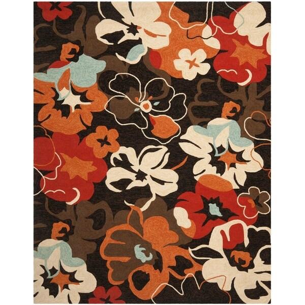 Safavieh Hand-Hooked Four Seasons Black Polyester Rug - 8' x 10'