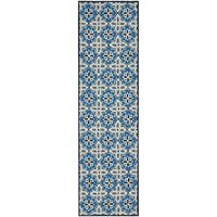 """Safavieh Hand-Hooked Four Seasons Blue Polyester Rug - 2'3"""" x 8'"""