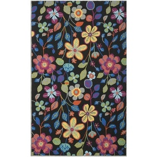 Safavieh Hand-Hooked Four Seasons Black/ Multicolored Polyester Rug (8' x 10')